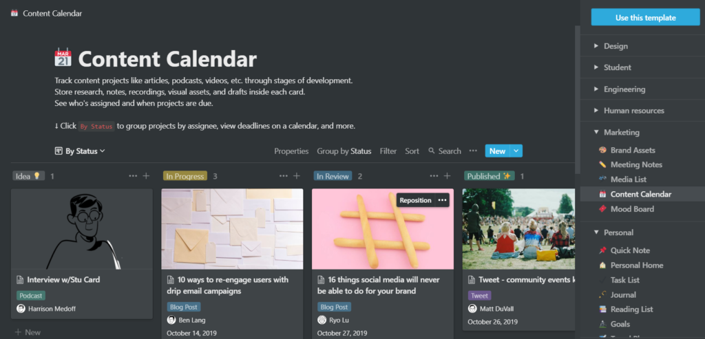 Get organized with Notion